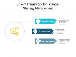 3 Point Framework For Financial Strategy Management