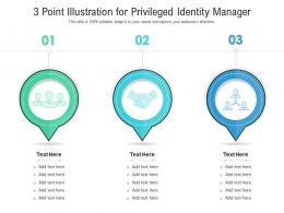 3 Point Illustration For Privileged Identity Manager Infographic Template