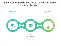 3 Point Illustration For Product Testing Market Research Infographic Template