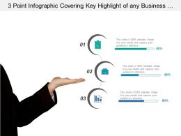 3 Point Infographic Covering Key Highlight Of Any Business Process With Data Value