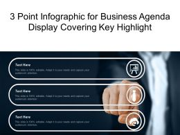 3 Point Infographic For Business Agenda Display Covering Key Highlight