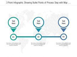 3 Point Infographic Showing Bullet Points Of Process Step With Map Pin Points