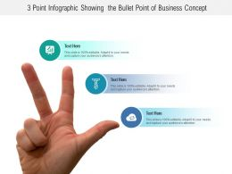 3 Point Infographic Showing The Bullet Point Of Business Concept
