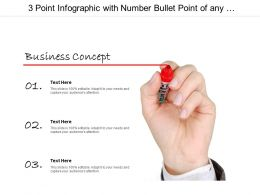 3 Point Infographic With Number Bullet Point Of Any Business Concept