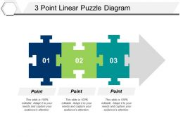 3 Point Linear Puzzle Diagram