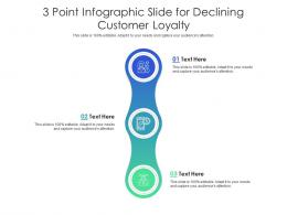 3 Point Slide For Declining Customer Loyalty Infographic Template