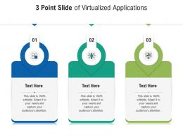 3 Point Slide Of Virtualized Applications Infographic Template