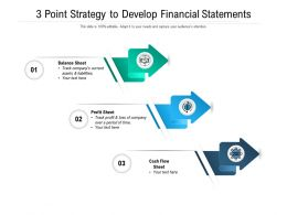 3 Point Strategy To Develop Financial Statements