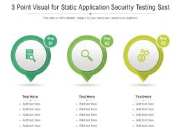 3 Point Visual For Static Application Security Testing Sast Infographic Template