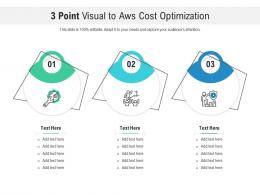 3 Point Visual To Aws Cost Optimization Infographic Template