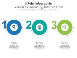 3 Point Visuals For Reducing Internet Cost Infographic Template