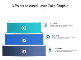 3 Points Coloured Layer Cake Graphic
