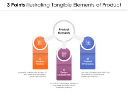 3 Points Illustrating Tangible Elements Of Product