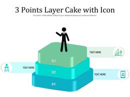 3 Points Layer Cake With Icon