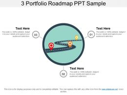 3 Portfolio Roadmap Ppt Sample