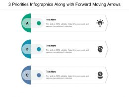3 Priorities Infographics Along With Forward Moving Arrows