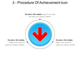3 Procedure Of Achievement Icon