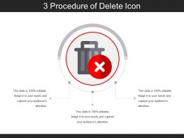 3 Procedure Of Delete Icon