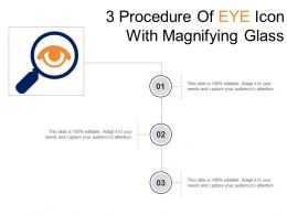 3 Procedure Of Eye Icon With Magnifying Glass