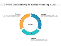 3 Process Chevron Showing The Business Process Step In Circle