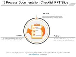 3 Process Documentation Checklist Ppt Slide