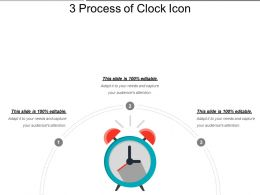 3 Process Of Clock Icon Powerpoint Slide Clipart
