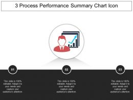 3 Process Performance Summary Chart Icon Example Of Ppt