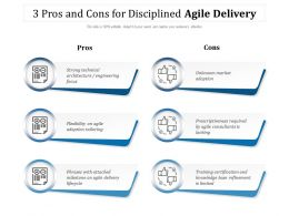 3 Pros And Cons For Disciplined Agile Delivery