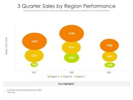 3 Quarter Sales By Region Performance