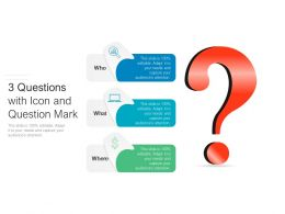 3 Questions With Icon And Question Mark