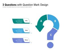 3 Questions With Question Mark Design