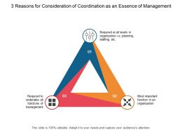 3 Reasons For Consideration Of Coordination As An Essence Of Management