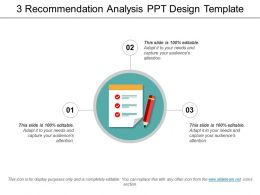 3 Recommendation Analysis Ppt Design Template
