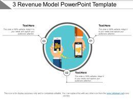 3 Revenue Model Powerpoint Template