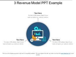 3 Revenue Model Ppt Example