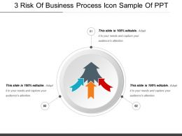 3 Risk Of Business Process Icon Sample Of Ppt