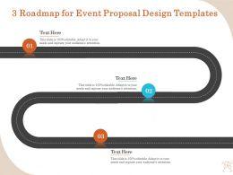 3 Roadmap For Event Proposal Design Templates Ppt Model