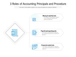 3 Roles Of Accounting Principals And Procedure