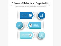 3 Roles Of Sales In An Organization