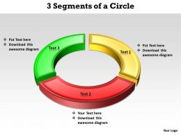 3 Segments of a Circle powerpoint slides templates infographics images 1121