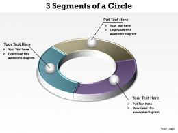 3 segments of a circle shown by ring powerpoint diagram templates graphics 712
