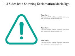 3 Sides Icon Showing Exclamation Mark Sign
