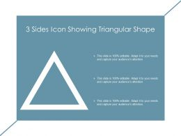 3 Sides Icon Showing Triangular Shape