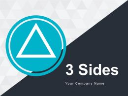 3 Sides Icon Triangular Shape Curves Circle Cube Business Mark