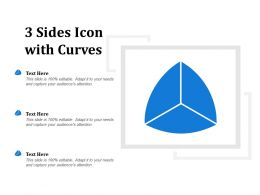 3 Sides Icon With Curves