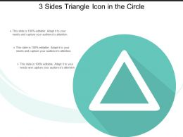 3 Sides Triangle Icon In The Circle
