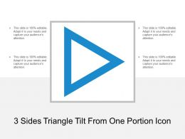 3 Sides Triangle Tilt From One Portion Icon