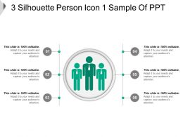 3 Silhouette Person Icon 1 Sample Of PPT