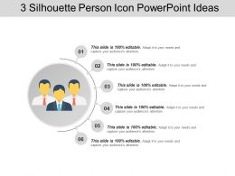 3 Silhouette Person Icon PowerPoint Ideas