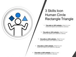 3 Skills Icon Human Circle Rectangle Triangle
